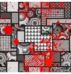 Geometric patchwork background vector