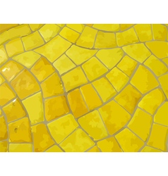 Glazed yellow stone mosaic texture vector