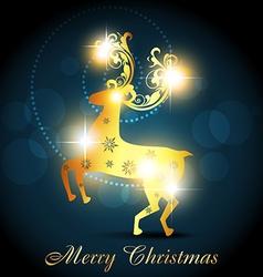 golden deer vector image