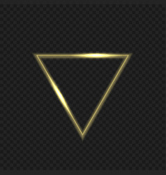 Golden fire triangular vector