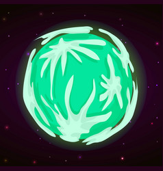green planet concept background cartoon style vector image