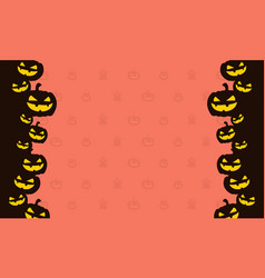 Halloween pumpkin design background vector