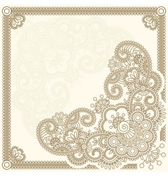 handdrawn henna mehndi abstract flowers vector ill vector image