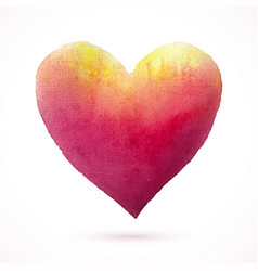 heart-pink-yellow-shape vector image