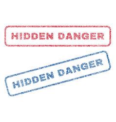 Hidden danger textile stamps vector