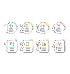 Hold smartphone messages and income money icons vector