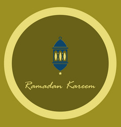 icon in a flat style ramadan oriental lantern vector image