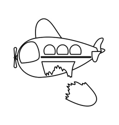 Isolated toy airplane damaged design vector image