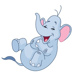 Laughing elephant vector