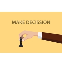 make decission concept with hand vector image