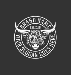 modern highlanders bull logo vector image