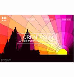 Morning in prambanan abstract background vector