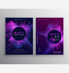 Music party flyer poster invitation template vector