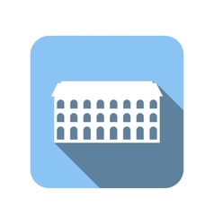 New house flat icon vector