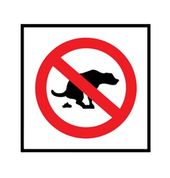 No dog shit icon vector