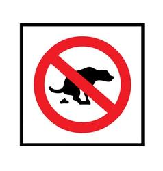 no dog shit icon vector image