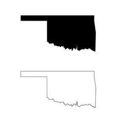 oklahoma ok state map usa vector image