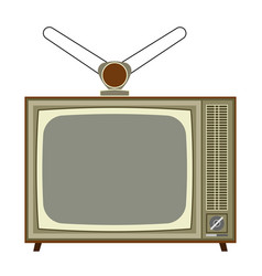 old analog tv vector image