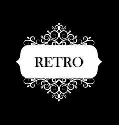 old style label vector image