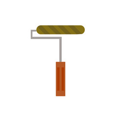 Paint roller icon isolated on vector