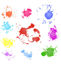 Paint splash paint blotch vector