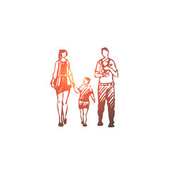 parents kids bahappiness family concept vector image