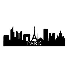 paris skyline silhouette black london city design vector image