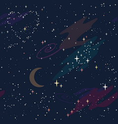 pattern with a starry sky constellation heart vector image
