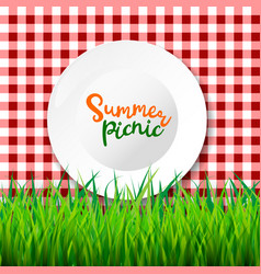 Picnic table cloth seamless checkered vector