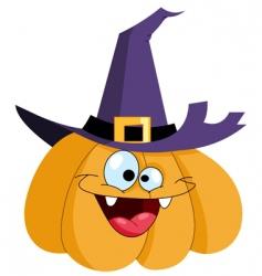 pumpkin witch vector image