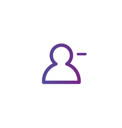 purple linear outline remove or delete person vector image