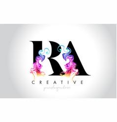 Ra vibrant creative leter logo design with vector