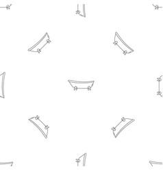 Retro bathtube pattern seamless vector