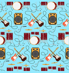 rock music seamless pattern vector image