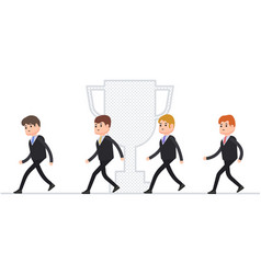 run businessmen manager compete for leadership vector image