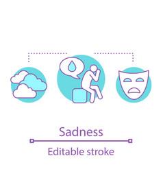 sadness concept icon vector image