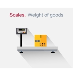 Scales flat Design Weight of Goods vector