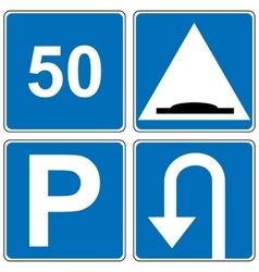 Set of traffic road sign vector