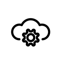 setting cloud configure vector image