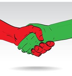 Shaking hands vector
