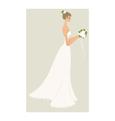 Side view woman vector
