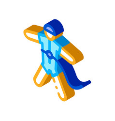 Skydiver with insurance isometric icon vector