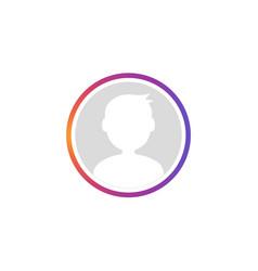 social avatar stories gradient frame vector image
