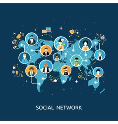 Social media network connection concept vector image vector image