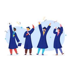 Student graduate cartoon vector