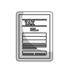 Tax document file isolated icon vector