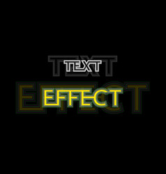 text effect vector image