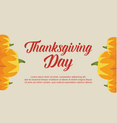 Thanksgiving day greeting card style vector