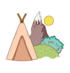 Travel tent ecological tourism vector