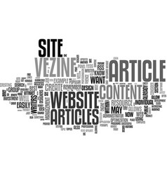 why have an article website text word cloud vector image